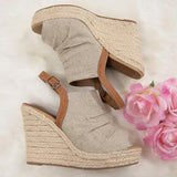 Bonnieshoes  Dazzlingly Tall Wedge Sandals