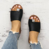 Bonnieshoes  Shiny Embellished Single Strap Toe Ring Slippers
