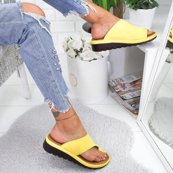 Bonnieshoes Women Slip-On Comfy Platform Sandals