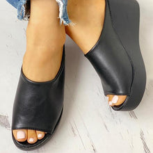 Load image into Gallery viewer, Bonnieshoes Summer Simple Comfy Slip-on Wedges