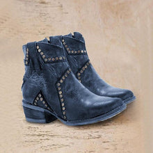 Load image into Gallery viewer, Bonnieshoes Vintage Zipper Boots Fashion Block Heel Boots