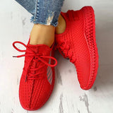 Bonnieshoes Lace-Up Breathable Casual Sneakers