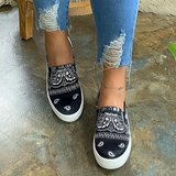 Bonnieshoes Fashion Slip on Printed Loafers/Sneakers