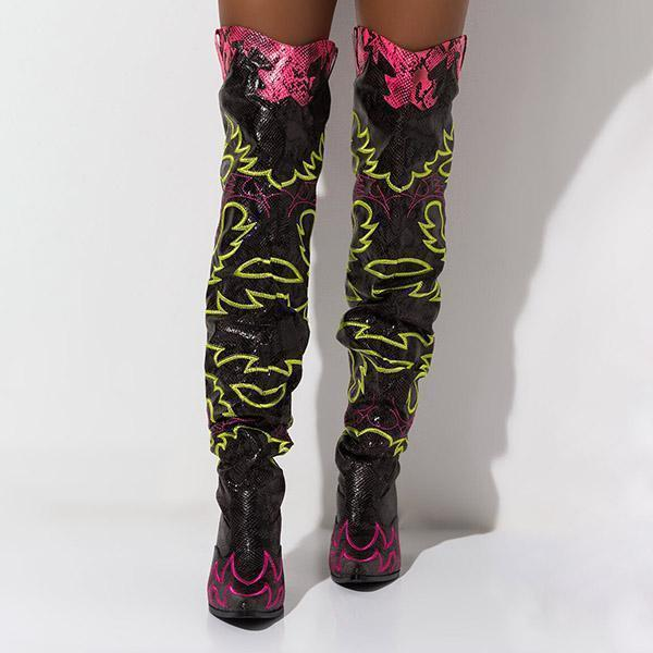 Bonnieshoes Western Over The Knee Boots