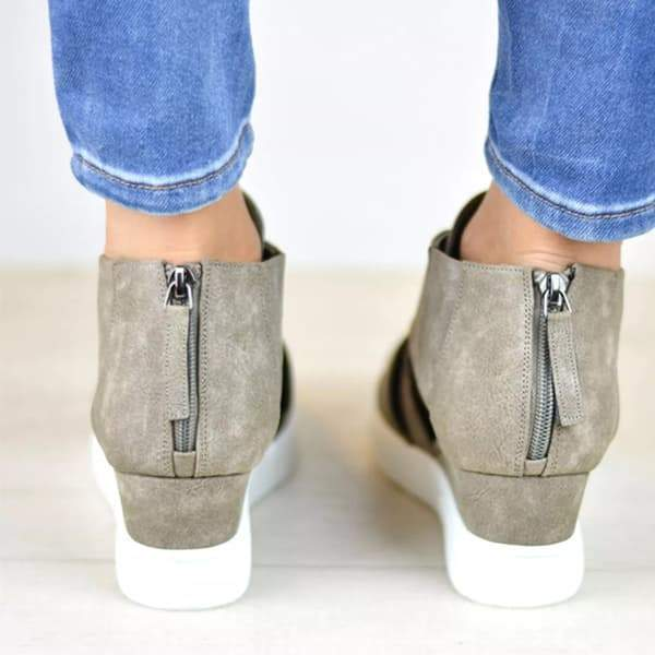 Bonnieshoes  Criss-cross Cut-out Wedge Sneakers