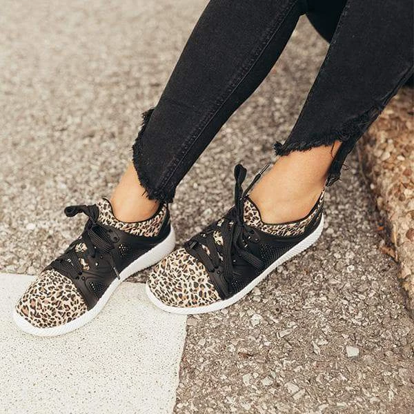 Bonnieshoes Daily Casual Comfy Leopard Slip-on Sneakers