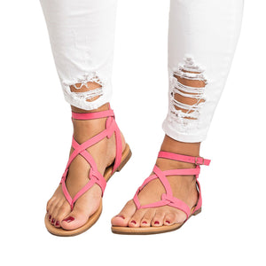Bonnieshoes Strappy Gladiator Thongs Sandals