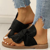 Bonnieshoes Bowknot Toe Ring Non-slip Slippers
