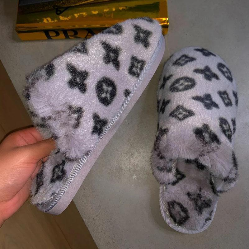 Bonnieshoes Printed Plush Fashion Slippers