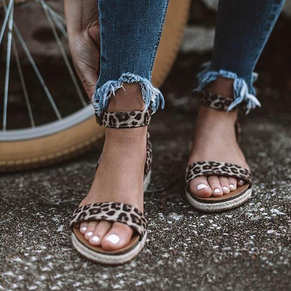Bonnieshoes Summer Daily Leopard Sandals