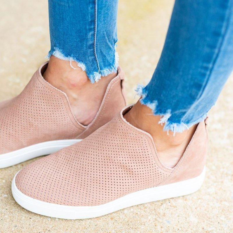 Bonnieshoes  Slip-On Round Toe Breathable Sneakers
