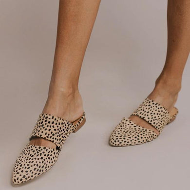 Bonnieshoes Women Fashion Leopard Flat Mules