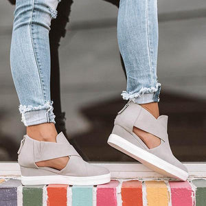 Bonnieshoes Comfortable Stylish Wedge Heel Sneakers