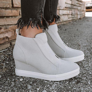 Bonnieshoes Fashion Stylish Daily Wedge Sneakers