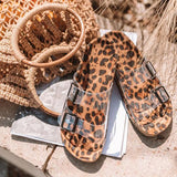 Bonnieshoes Women Summer Fashion Stylish Leopard Sandals