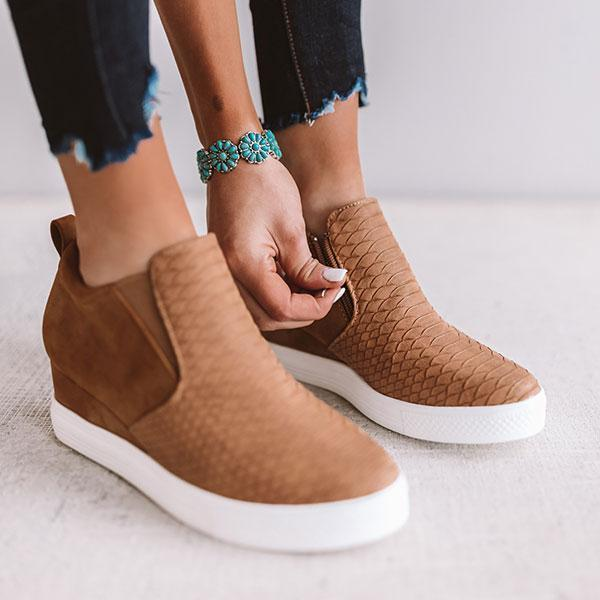 Bonnieshoes Daily Comfy Wedge Heel Sneakers