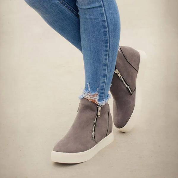 Bonnieshoes Textured Wedge Sneakers