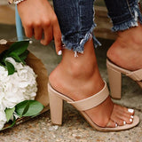 Bonnieshoes Women Fashion Chunky Heels