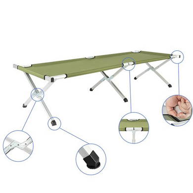 Portable Folding Camping Cot with Carrying Bag Army Green [Delivery in 3-7 days]