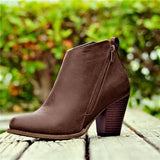 Bonnieshoes Daily Fashion Mid Heel Boots