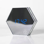 Innerest Digital Alarm Desk Wall Hexagon Clock Night Lights Lamp Vanity Mirror Thermometer
