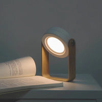 Innerest Night Light Wooden Folding Lamp Desk Table Home Décor Kids Bed Lighting