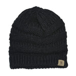 BASICO Unisex Adult Knit Beanie Cap Hat #101- Black