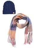 Basico Winter Maxi Scarf Tassels Shawl Brushed Blanket Stole Wraps (One Size, Combo)