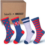 Basico Innerest Women's Cozy Fuzzy Socks 4 pairs with Gift Box (#1)