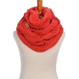 Basico Winter Infinity Scarf Warm Knitted Circle Loop Various Colors (12 Colors) (SF1712)