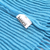 Basico Knit Infinity Scarf with Tassels- French Blue