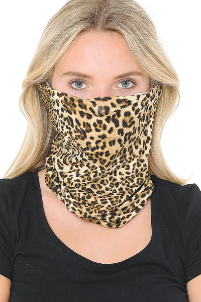 Basico Automotive Gear Balaclavas Seamless Face Mask Bandanas (Animal Cheetah Print)