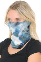 Basico Automotive Gear Balaclavas Seamless Face Mask Bandanas (Black White Tie Dye Style)