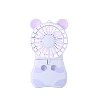 Innerest Mini Cooling Fan Personal Handheld Standable Multi-color LED Lights 2 Adjustable Speeds Travel Camping Festival Uses