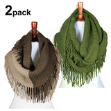 Basico Infinity Scarf with Tassels 2pk Set (G70)