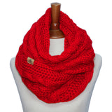 Basico Knit Infinity Cable Scarf (8 Colors) (SF1710)