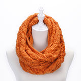 Basico Knit Infinity Cable Scarf- Sunrise (SF1710)