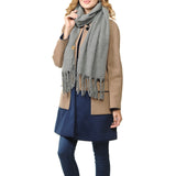 Basico Maxi Scarf with Tassels C.grey