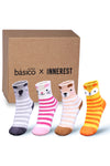 Basico Innerest KIDS' Cozy Fuzzy Socks 4 pairs with Gift Box (#1)