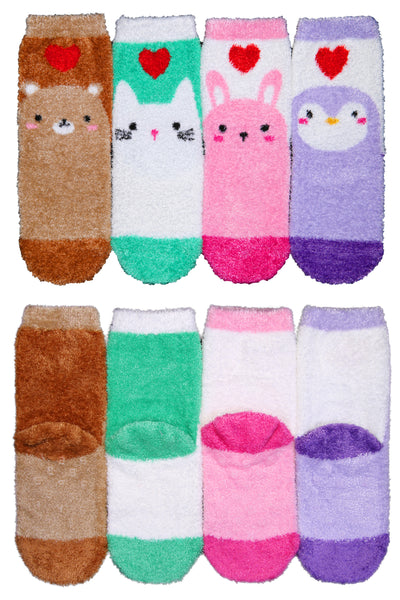 Basico Innerest KIDS' Cozy Fuzzy Socks 4 pairs with Gift Box (#2)
