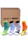 Basico Innerest KIDS' Cozy Fuzzy Socks 4 pairs with Gift Box (#3)