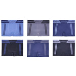 Innerest Basico Men's Seamless Underwear Compression Boxer Briefs Sets 10 (6 pack)