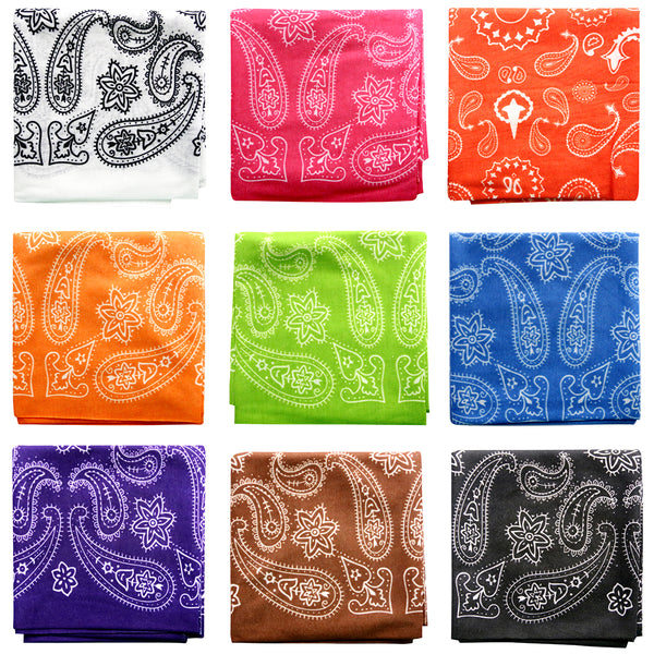 Basico Outdoor Sports Bandana Seamless Tube Mask Magic Scarf Headband Value Packs (9pk Tube Mask Set1)