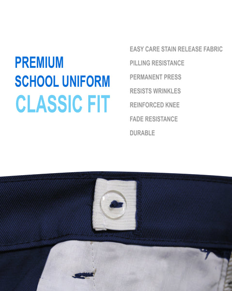 Boys Junior Premium School Uniform Pants Regualr Fit Size 4-20