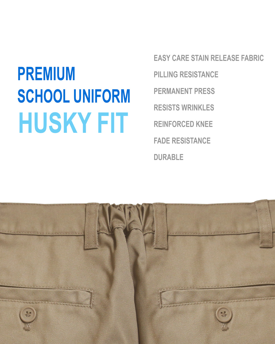 ba38e253552 Boys Junior Premium School Uniform Pants Husky Fit Size 4-20 – Timkshop