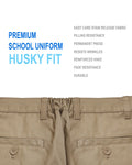 Boys Junior Premium School Uniform Pants Husky Fit Size 4-20