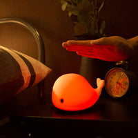 Innerest Baby Children Night Light Nursery Breastfeeding Mood Lamp Touch Control USB Rechargeable Little Dolphin Shapes