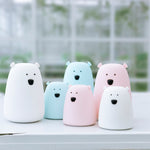 Innerest Baby Children Night Bear Light Nursery Breastfeeding Mood Lamp Touch Control USB Charge Battery