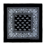 Black Bandana 100% Cotton Head Wrap Paisley Bandana 6 12 Pack