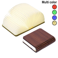 Book Lamp Wooden Folding Innerest Night Light  Desk Table Home Décor Kids Bed Lighting